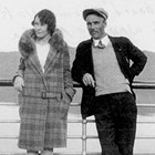 "Julia ""Jewel"" and C.L. ""Les"" Plumb on board the steamer Yukon, en route to Alaska, 1929."