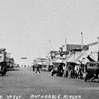 A view of 4th Avenue, looking west from C Street, Anchorage, n.d.
