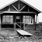 The Ragers' first home, 7th Avenue and G Street, Anchorage, 1920.