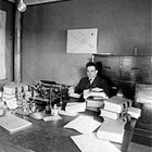 William H. Rager in his office as U.S. Commissioner, 1922.