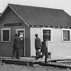 The Bank of Alaska's first building in Anchorage, 1916.