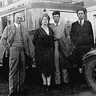 Frank and Pauline Reed and sons Paul I. and Frank M., in front of the Anchorage Hotel, ca. 1930.