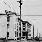 The original Anchorage Hotel at the corner of 3rd Avenue and E Street, 1923.