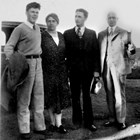 Frank I. Reed, right, Pauline and their two sons, ca. 1930.