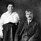 "Lauretto ""Laura"" Pesco Iannone Reno (1884-1966) and Gaetano Jannone Iannone [aka Joseph ""Joe"" Reno] (1866-1942)."