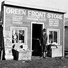 The original Green Front Store in Kanatak, 1917.