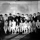 Anchorage School, seventh grade class, 1928-1929.  The Sellers' son, Harry, is seated first on the left.