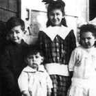 The Seller children - Renee, Alfred, Marjorie, and Harry, in 1917 at the village of Alitak on the southwest coast of Kodiak Island.