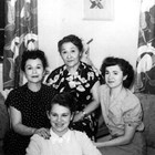 Kathryn with her grown daughters - Marjorie and Betty and grand-daughter Patricia Dorbrandt, 1954.