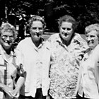 Left to right: Fay Stoddard Eskilson, Beth Stoddard Allen, Dorothy Stoddard Walling, and Vivian Stoddard Laurie.