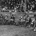 The Anchorage Band in the ballpark, 1929. Paul Swanson is third from left.