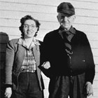 John Teeland with daughter-in-law Vivian Jones Teeland, date unknown.