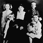 Kate Teeland with daughters Hazel, May, and Mabel, and son Walter, in Ruby, 1919.