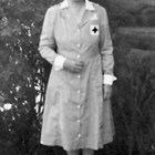 Mabel P. Truesdell in Grey Lady uniform, Anchorage.