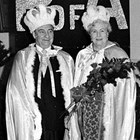 "Bertel ""Bert"" or ""Beans"" and Violet ""Mae"" Wennerstrom, King and Queen Regents of the Anchorage Fur Rendezvous, 1969."
