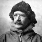 Sydney Laurence dressed for the trail.  Laurence grubbed a living as a prospector when he first arrived in Alaska, a profession that required getting to remote areas usually on foot with pack horse in summer or by dog team in the winter.  In 1913, he spent weeks alone travelling through the wilderness toward Mount McKinley (now Denali) to paint his first images of that mountain.