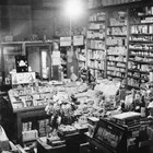 Interior, Bert's Drug Store, Anchorage, ca. 1935.