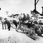 A winter's outing at Iditarod before 1918.  Beaton is listed as one of the passengers.