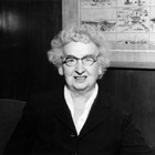 Lucy Cuddy at the time she was the chairperson of the Greater Anchorage United Fund Drive in 1956.  Although initially intimidated by the task, she carried it through successfully.