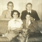 The four Culhane children:  Back:  John P. Culhane (left) and Thomas R. Culhane (right).  Front (sitting):  Marguerite R. Culhane, and Gerald J. Culhane.