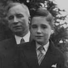James Delaney with his son, James J. Delaney, Jr., who remained in Anchorage as an adult.