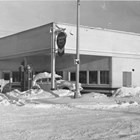 Gill's Garage was the first service station in Anchorage, located at 4th and I Streets.