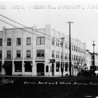 Business was good enough toward the end of the 1930s that Z.J. Loussac opened a second drug store in the newly built Anchorage Hotel Annex, which according to the Anchorage Daily Times cost him $60,000 in furniture and stock.  The sign for his business can be seen at the building's front corner.