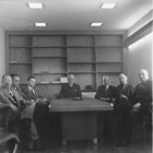 Alaska Territorial Board of Engineers and Architects Examiners, February, 1955, Fairbanks. Manley is third from the left.