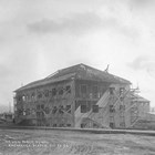 When the first school house became overcrowded, the Woman's Club again lobbied successfully for a larger building, shown here being built in 1917.  Jane Mears was deeply involved with education in Anchorage while she lived there, and Mears Junior High School (now Mears Middle School) was named in her memory.