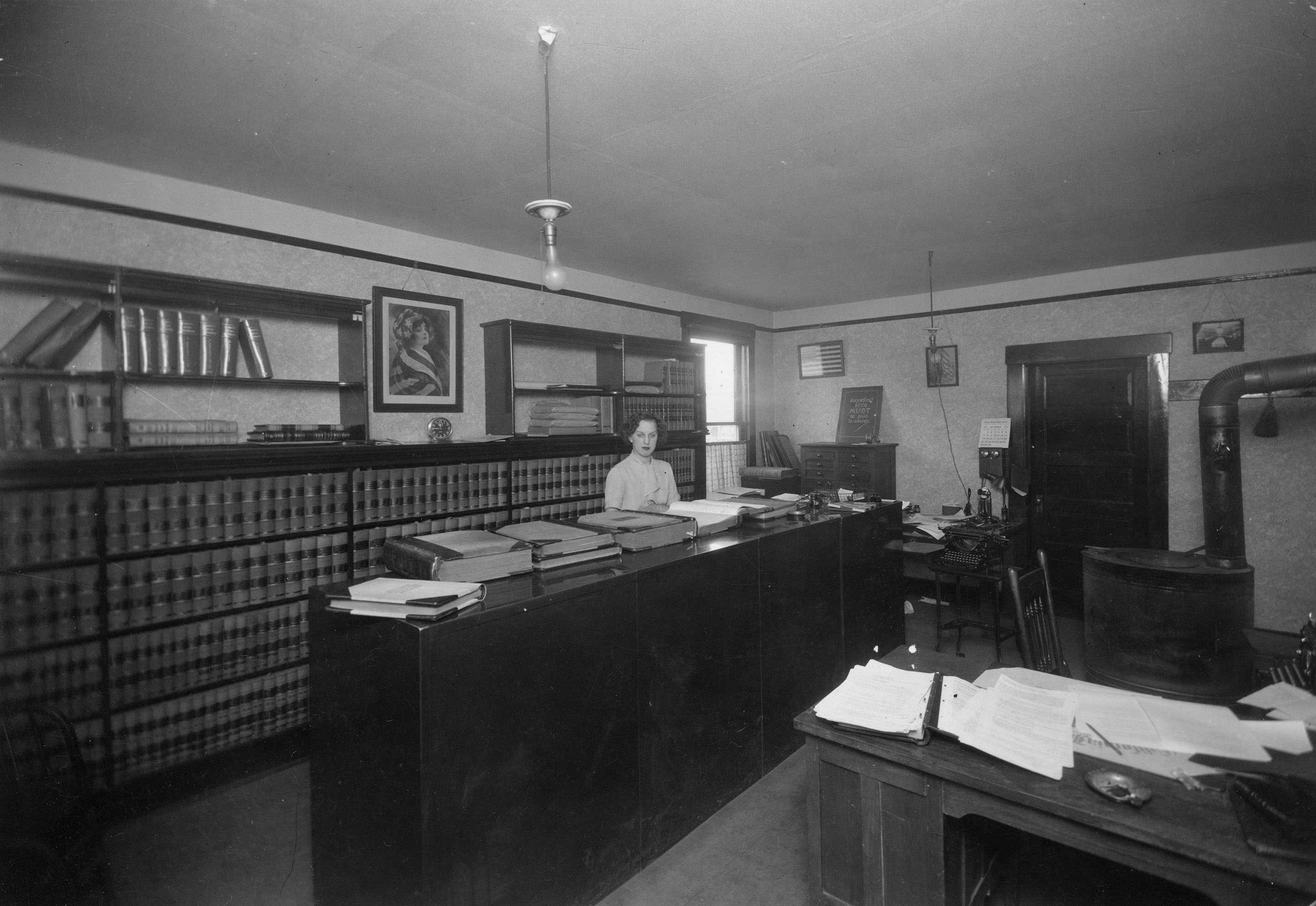 Thomas Priceu0027s Law Office, Ca. 1940. Hazel Seaburg Was His Clerical  Employee.