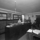 Thomas Price's law office, ca. 1940.  Hazel Seaburg was his clerical employee.