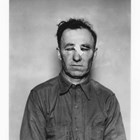 "Photograph taken of ""Russian Jack"" Marunenko showing the severe beating he received at the hands of taxi owner Milton Hamilton, whom he shot and killed on March 21, 1937."
