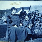 "Martha White in the Sunrise area of Turnagain Arm area in 1898 with her daughter, Martha, known usually as ""Babe.""  The photograph was taken during Captain Edwin F. Glenn's expedition to Cook Inlet looking for a route into the interior gold fields."