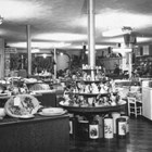 Interior of the Wolfe's Department Store, ca. 1950.