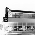 View of the exterior of Wolfe's Department Store after it was remodeled.