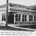 "Pioneer Sheet Metal Works (Fifth Avenue and C Street), Anchorage, where Raymond ""Ray"" Wolfe  initially worked for his uncle, Henry Wolfe."