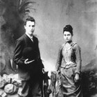 William Gillies Marsh Sr. and Mariola Elvira High at about the time of their marriage on March 26, 1887 in Grayling, Michigan.