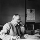 Otto Ohlson at work as general manager of the Alaska Railroad.  He served in this position for seventeen tumultuous years, beginning in 1928 and ending in 1945.
