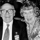 "William ""Bill"" Stolt and his wife Lily ""Lilian"" Rivers Stolt, King and Queen Regents of the Anchorage Fur Rendezvous, 1965."